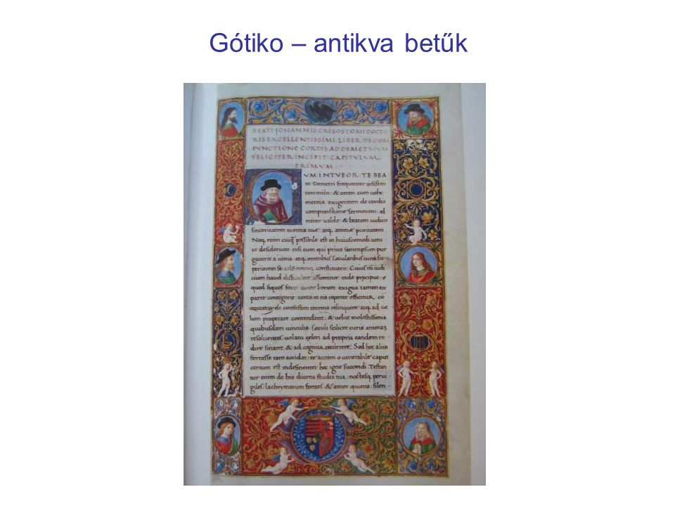 Gótiko – antikva betűk