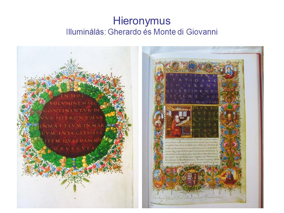 Hieronymus Illuminálás: Gherardo és Monte di Giovanni