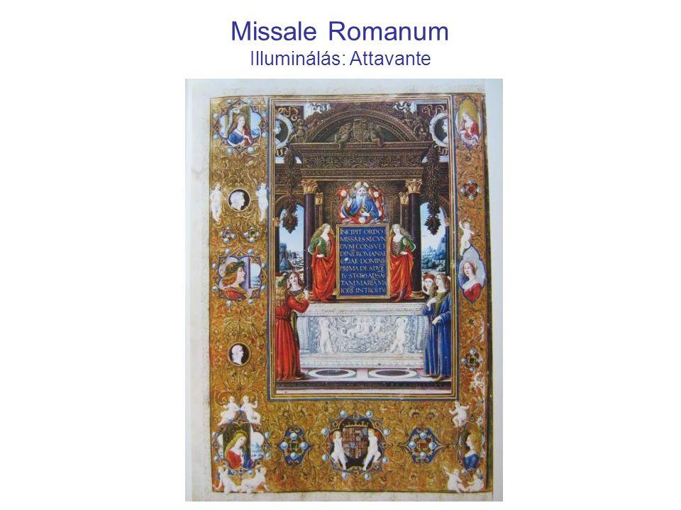 Missale Romanum Illuminálás: Attavante