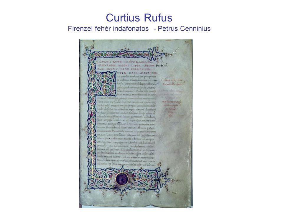 Curtius Rufus Firenzei fehér indafonatos - Petrus Cenninius