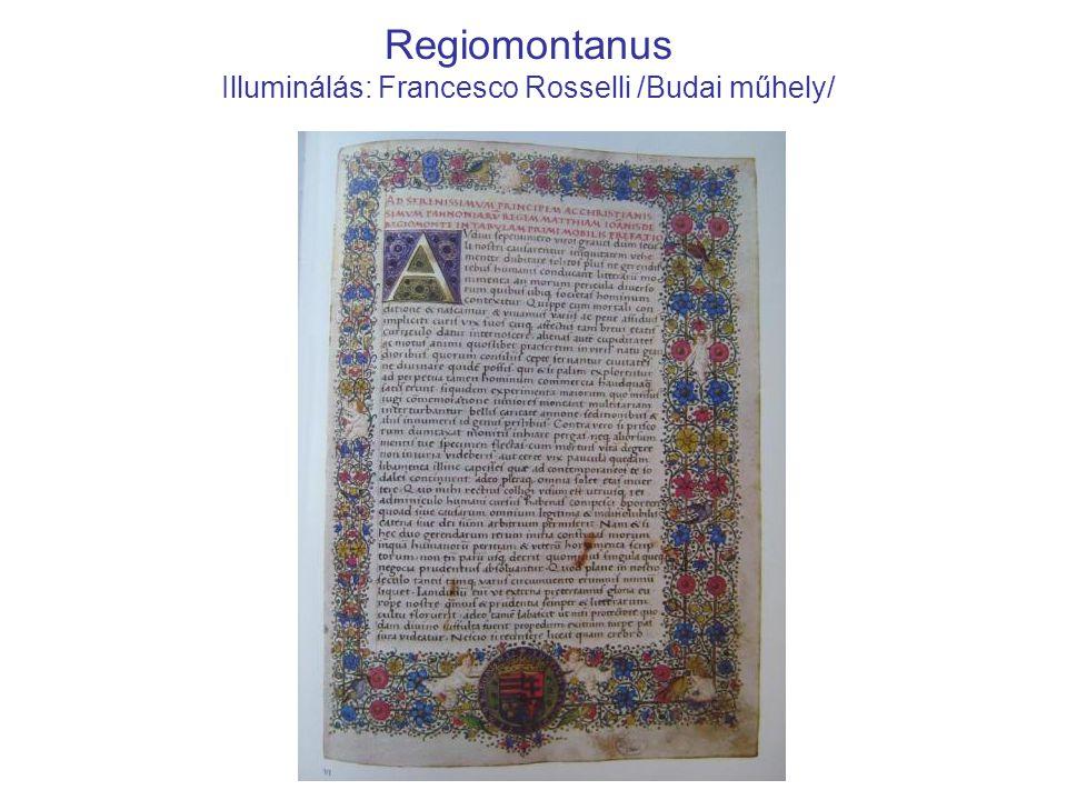 Regiomontanus Illuminálás: Francesco Rosselli /Budai műhely/