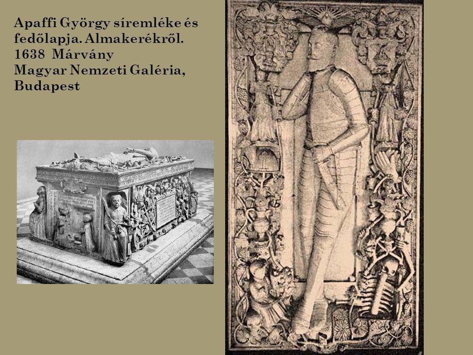 Apaffi György síremléke és fedőlapja. Almakerékről