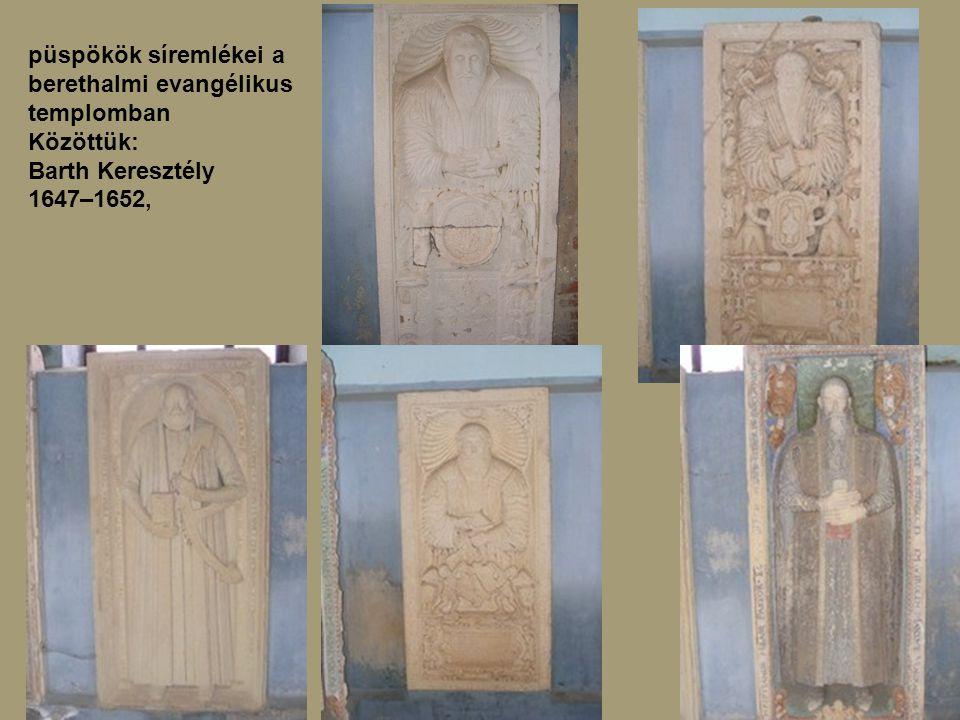 püspökök síremlékei a berethalmi evangélikus templomban