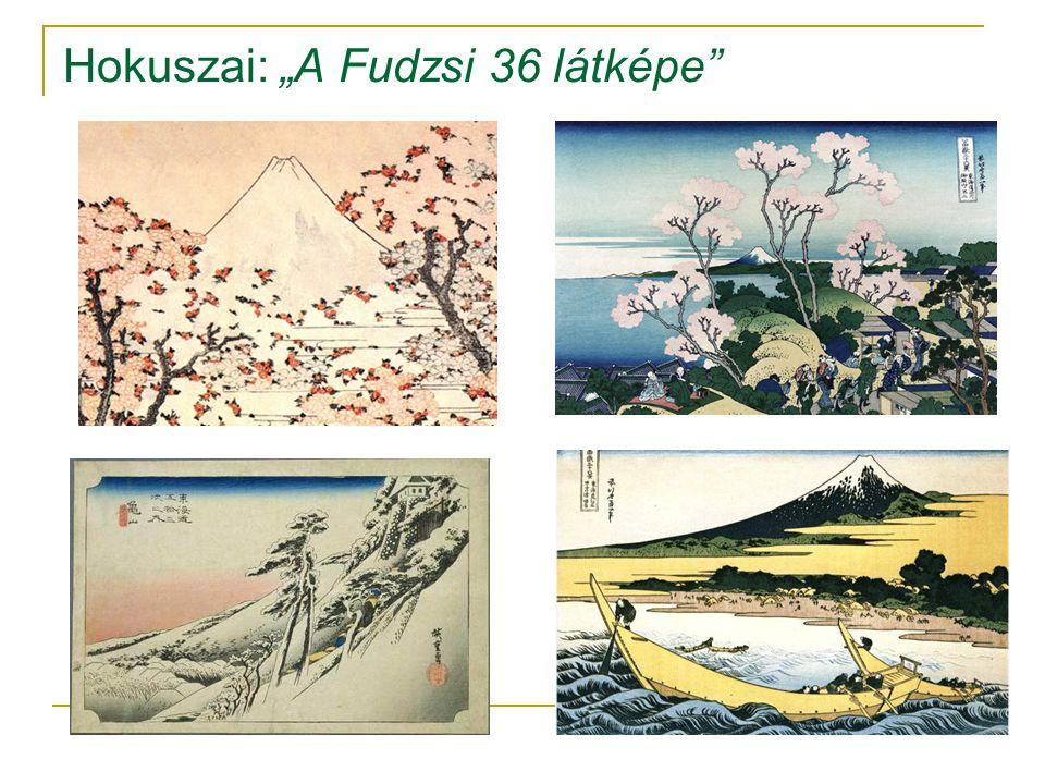 "Hokuszai: ""A Fudzsi 36 látképe"