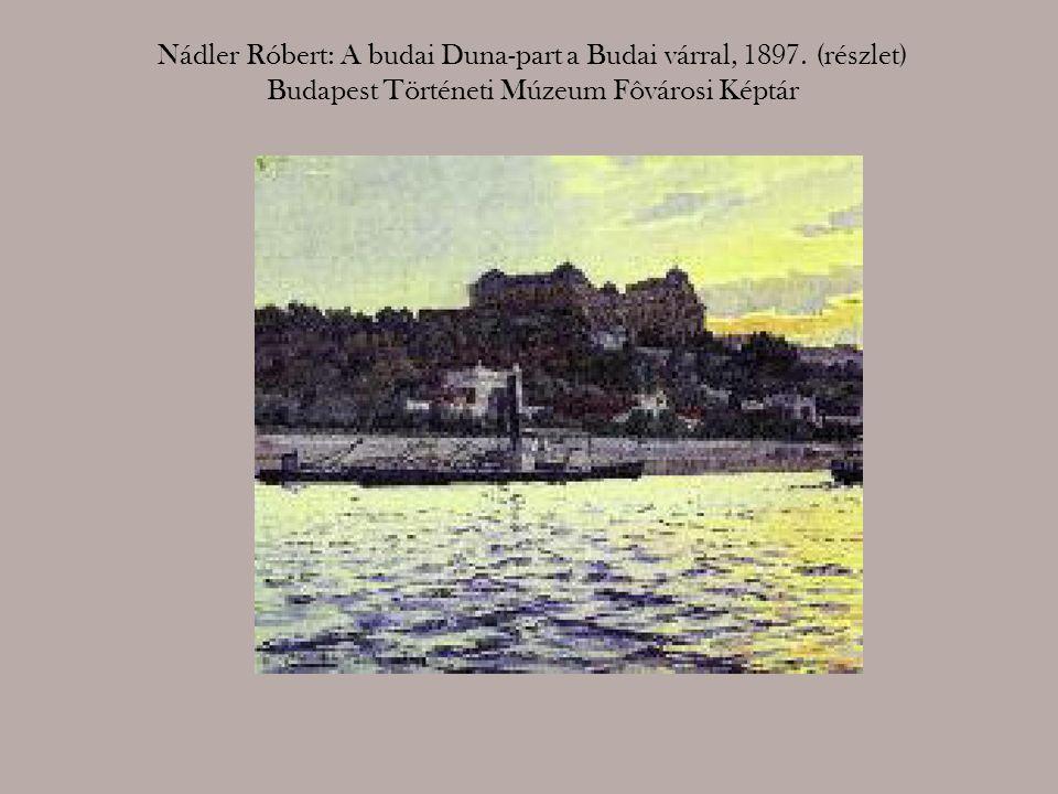 Nádler Róbert: A budai Duna-part a Budai várral, 1897