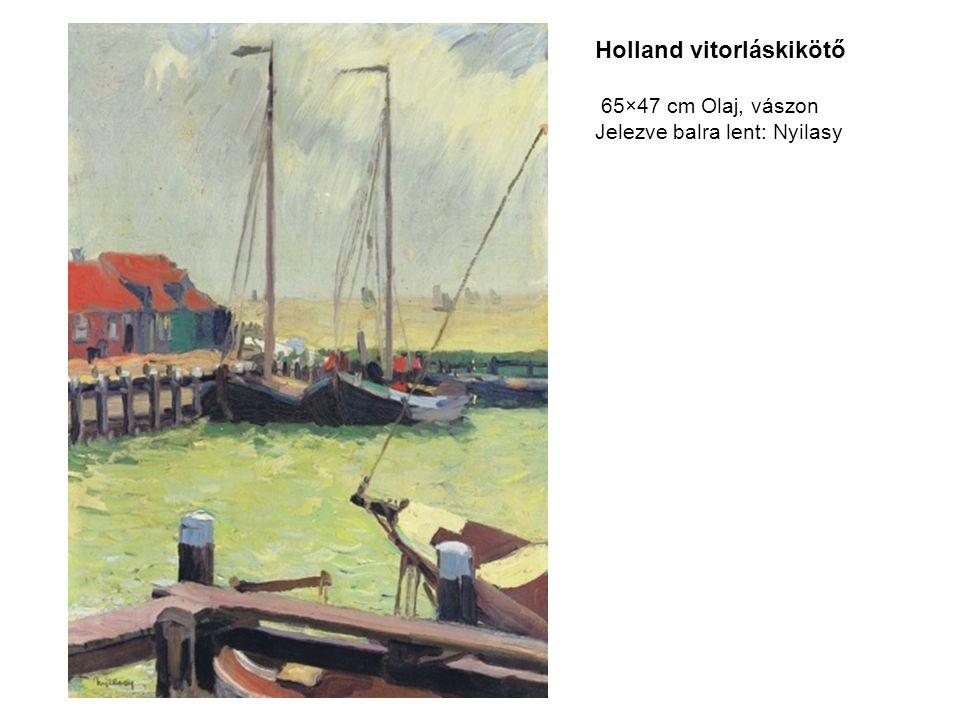 Holland vitorláskikötő