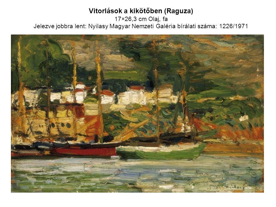 Vitorlások a kikötőben (Raguza)