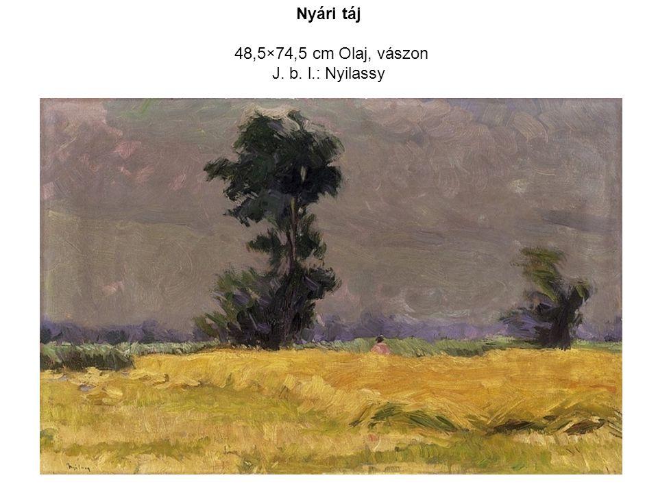 48,5×74,5 cm Olaj, vászon J. b. l.: Nyilassy