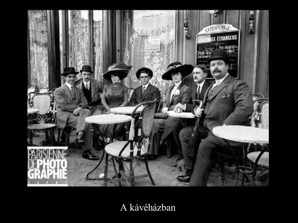 A kávéházban