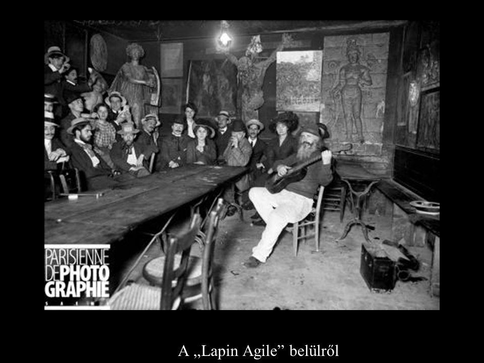 """A A """"Lapin Agile belülről"""