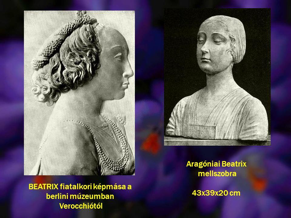 Aragóniai Beatrix mellszobra 43x39x20 cm