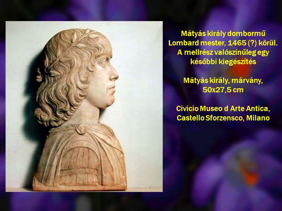 Mátyás király, márvány, 50x27,5 cm