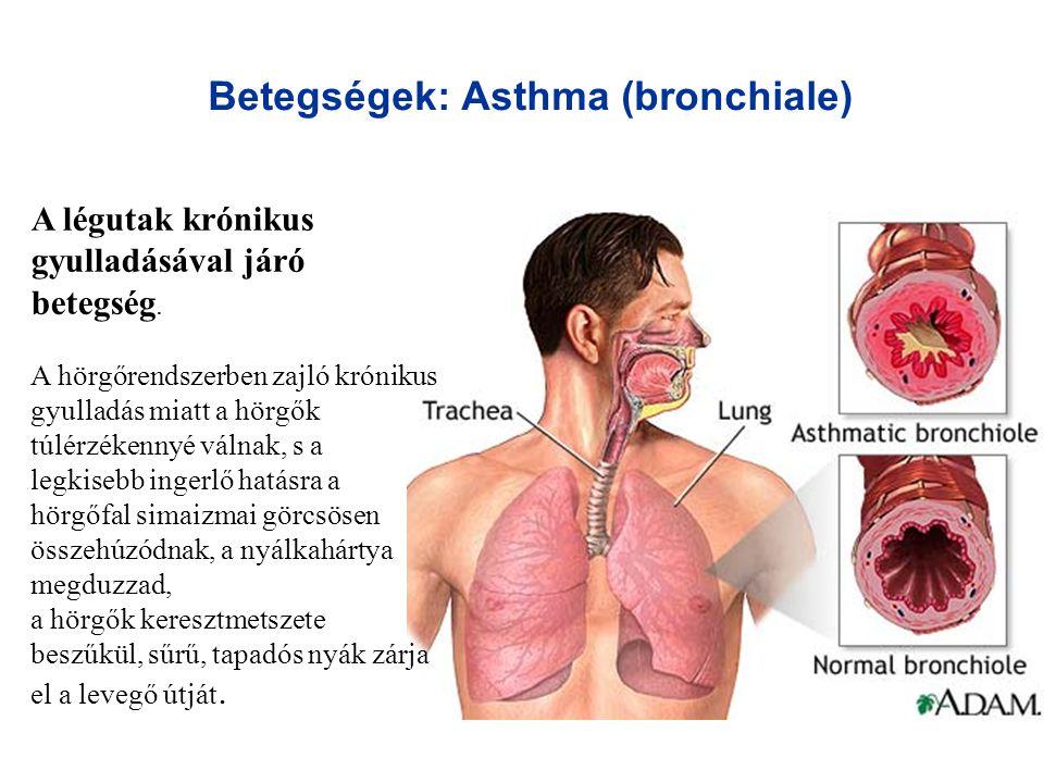 Betegségek: Asthma (bronchiale)