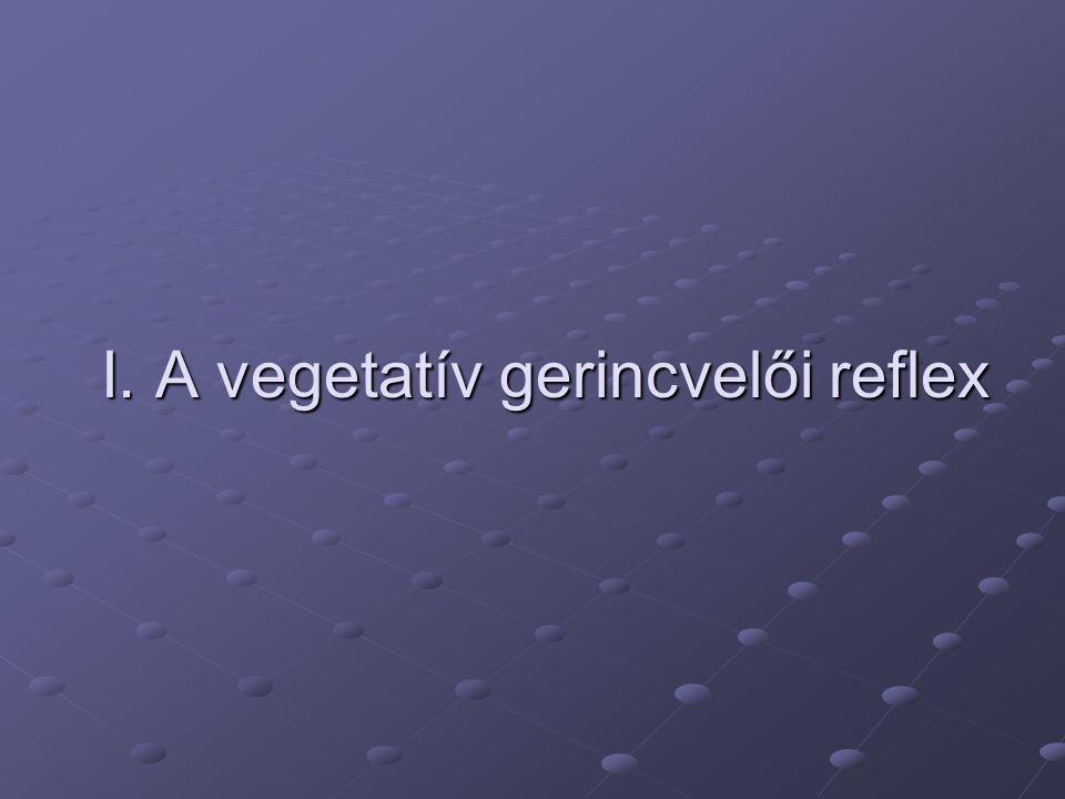 I. A vegetatív gerincvelői reflex