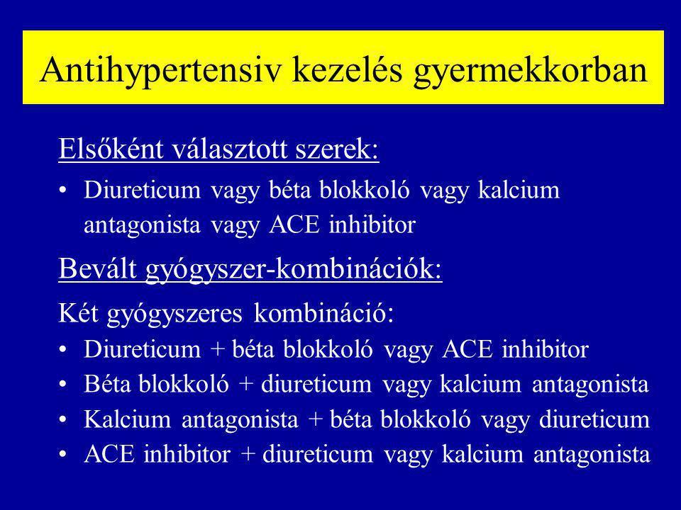 Antihypertensiv kezelés gyermekkorban