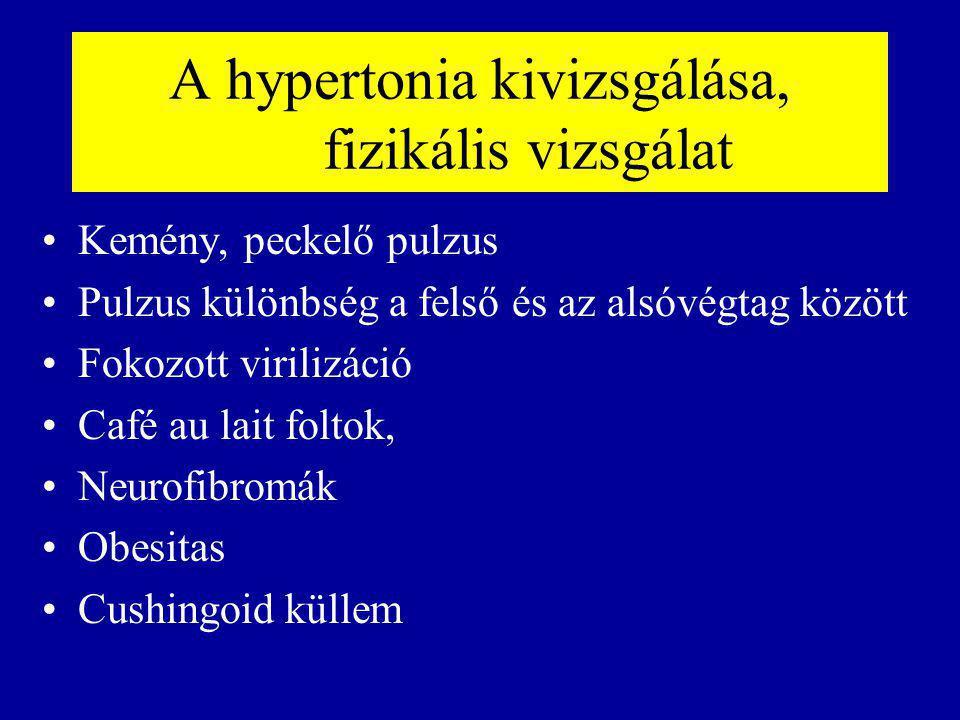 A hypertonia kivizsgálása, fizikális vizsgálat