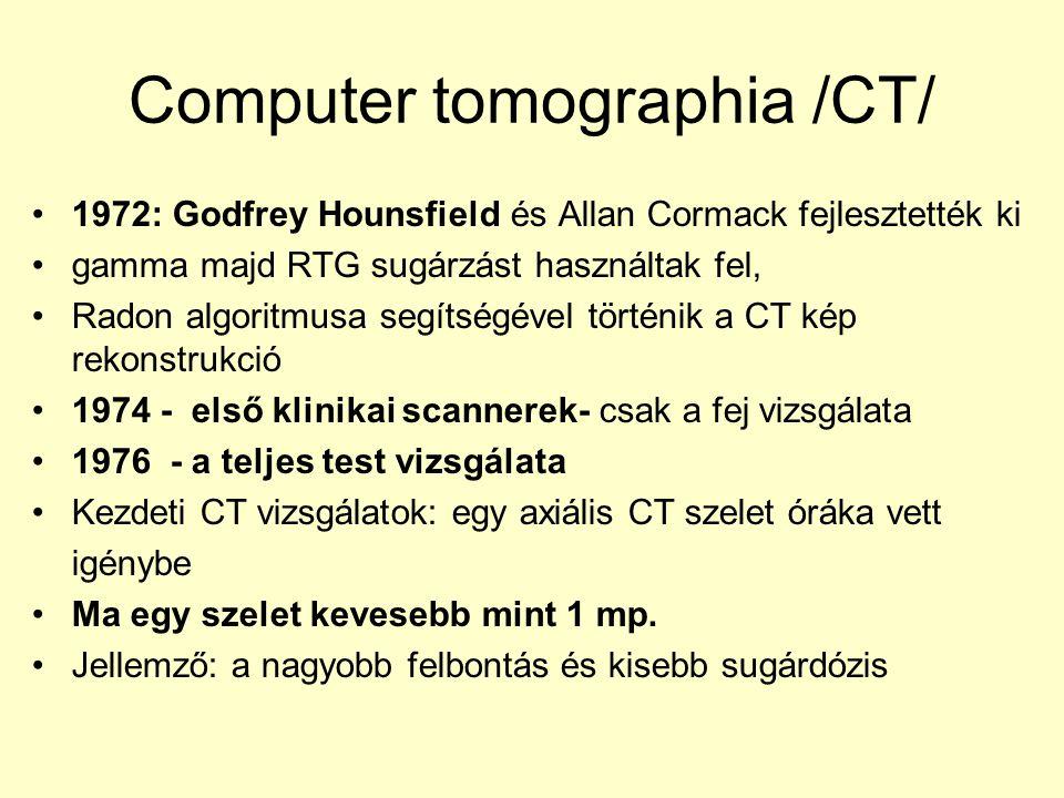 Computer tomographia /CT/