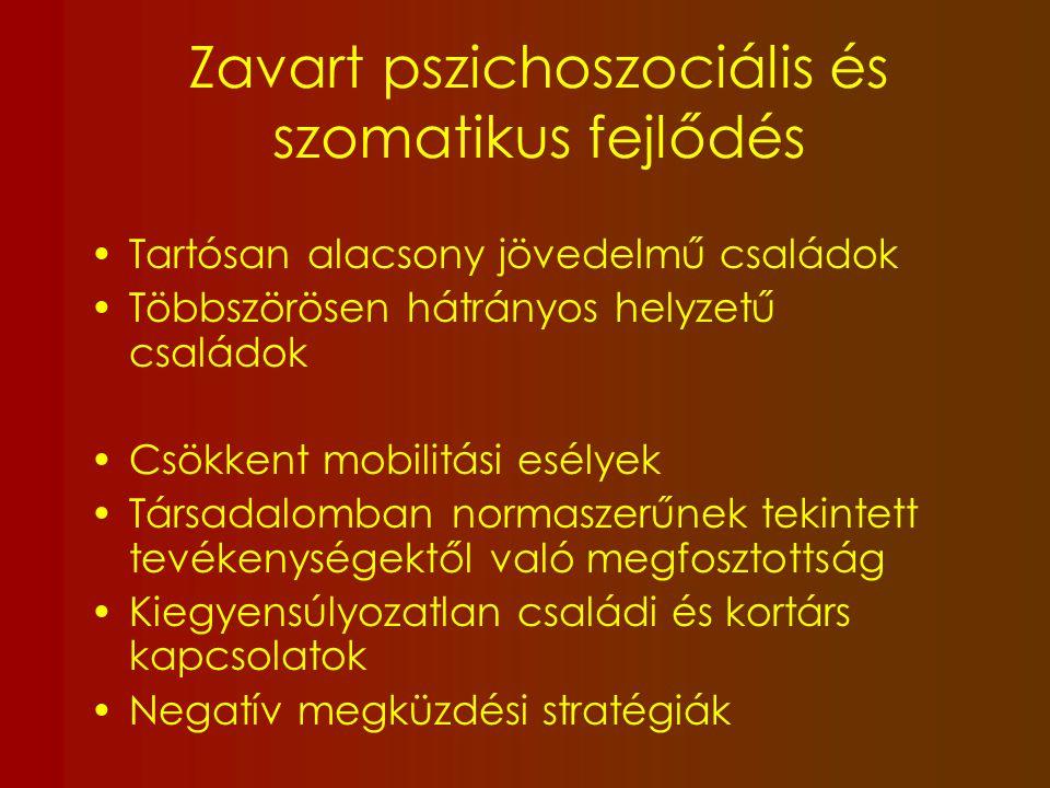 Zavart pszichoszociális és szomatikus fejlődés