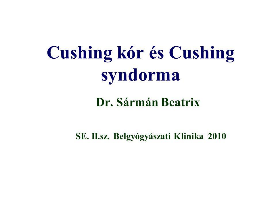 Cushing kór és Cushing syndorma