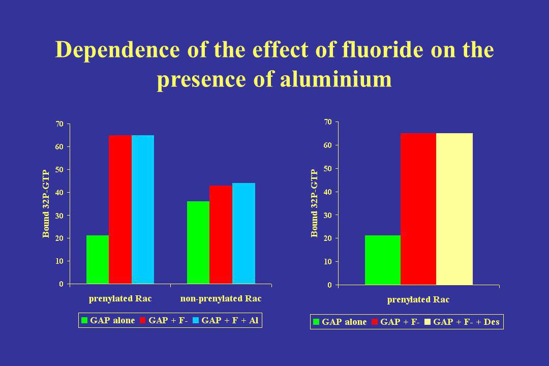 Dependence of the effect of fluoride on the presence of aluminium