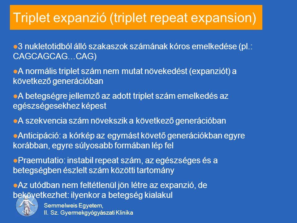 Triplet expanzió (triplet repeat expansion)