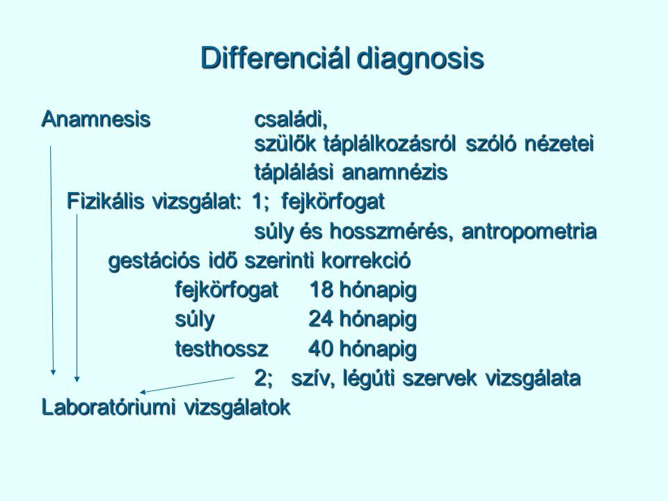 Differenciál diagnosis
