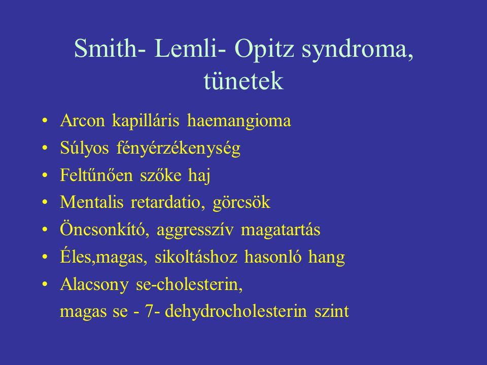 Smith- Lemli- Opitz syndroma, tünetek