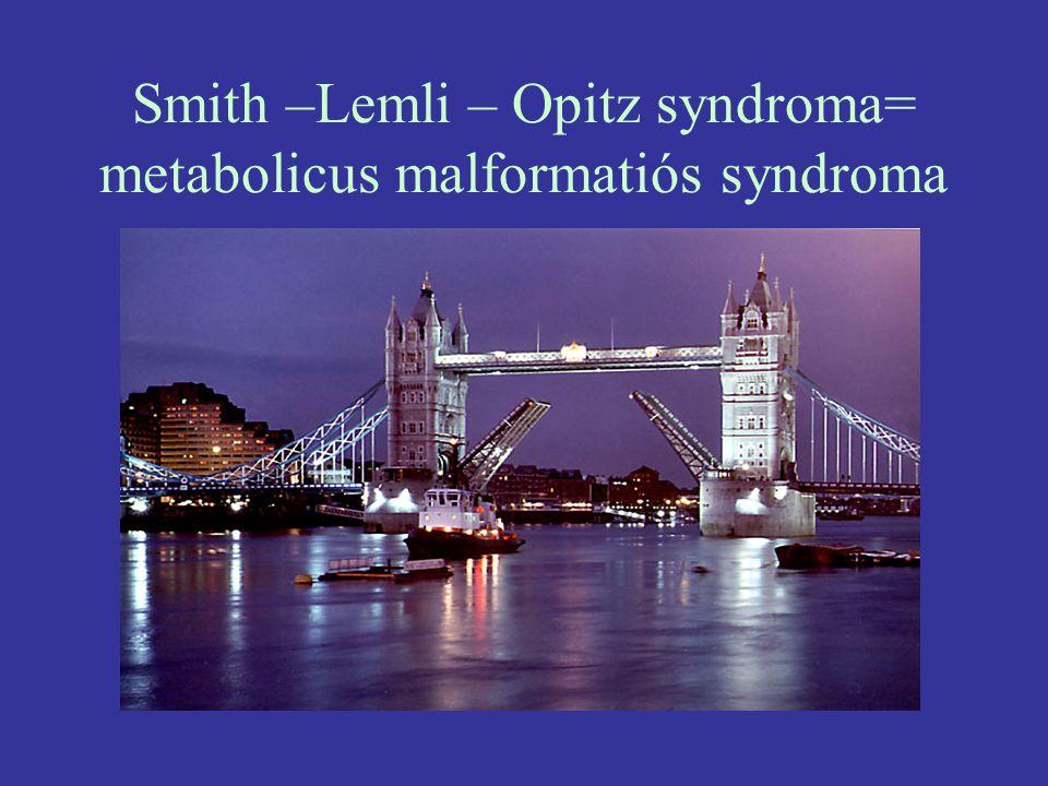 Smith –Lemli – Opitz syndroma= metabolicus malformatiós syndroma