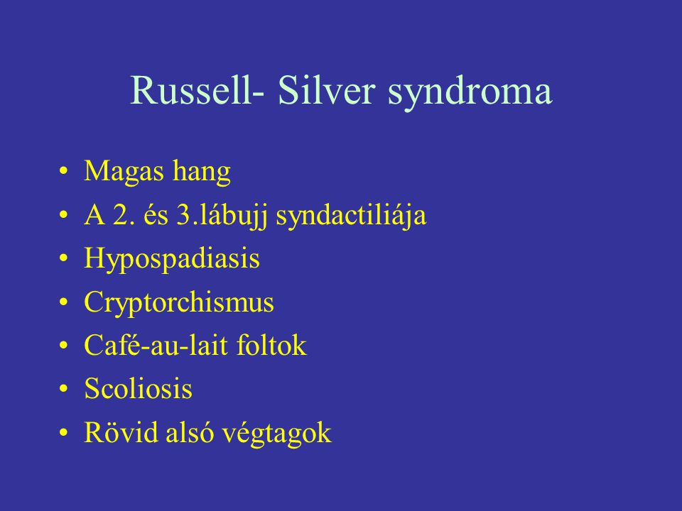 Russell- Silver syndroma