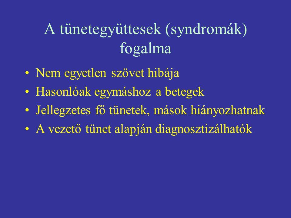 A tünetegyüttesek (syndromák) fogalma