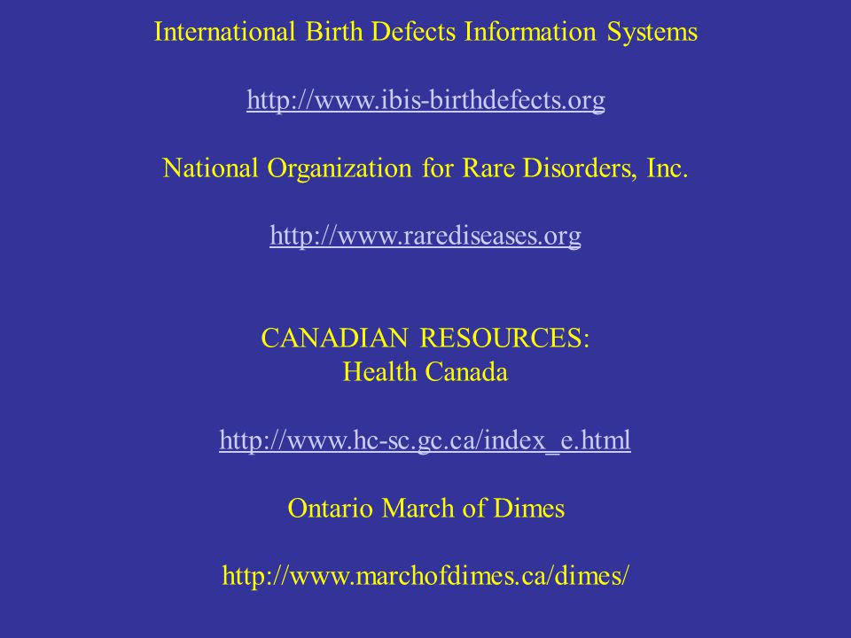 International Birth Defects Information Systems