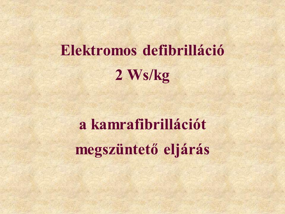 Elektromos defibrilláció