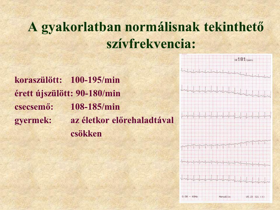 A gyakorlatban normálisnak tekinthető szívfrekvencia: