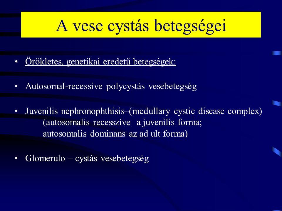 A vese cystás betegségei