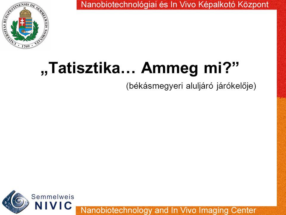 """""""Tatisztika… Ammeg mi"""