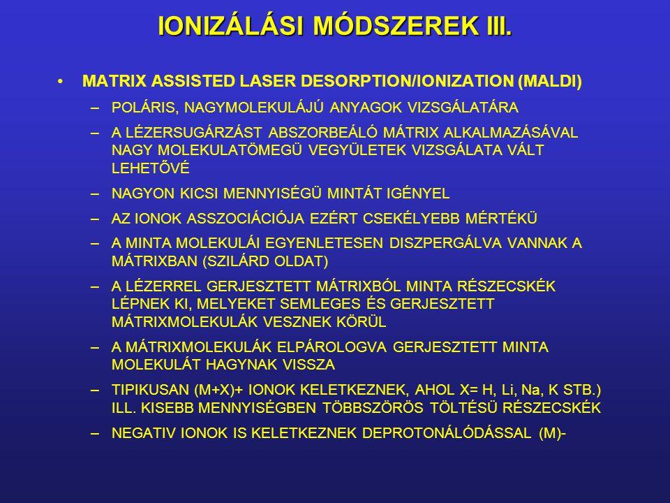IONIZÁLÁSI MÓDSZEREK III.