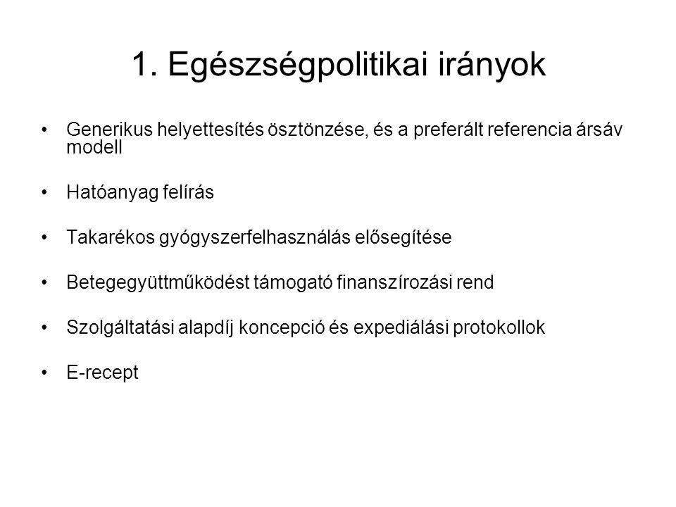 1. Egészségpolitikai irányok