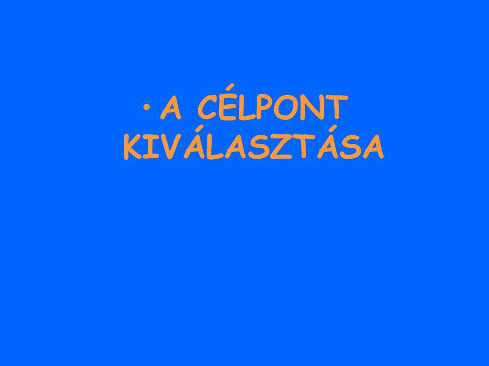 A CÉLPONT KIVÁLASZTÁSA