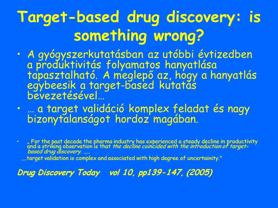 Target-based drug discovery: is something wrong