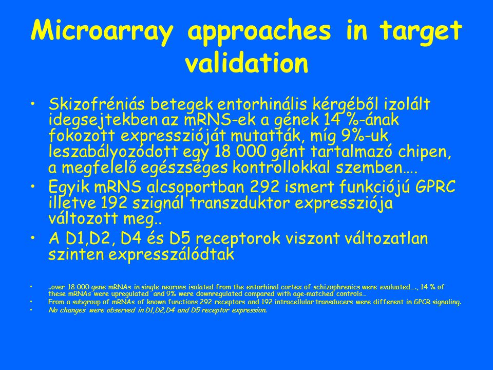 Microarray approaches in target validation