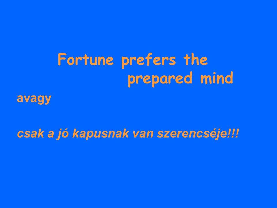 Fortune prefers the prepared mind
