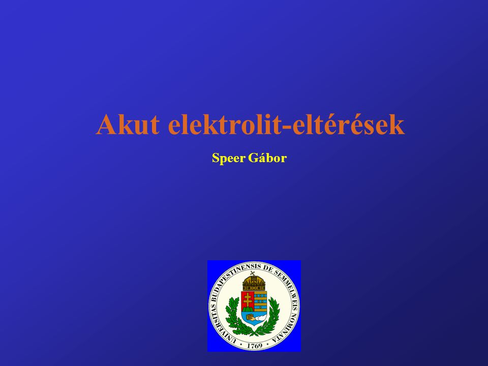 Akut elektrolit-eltérések