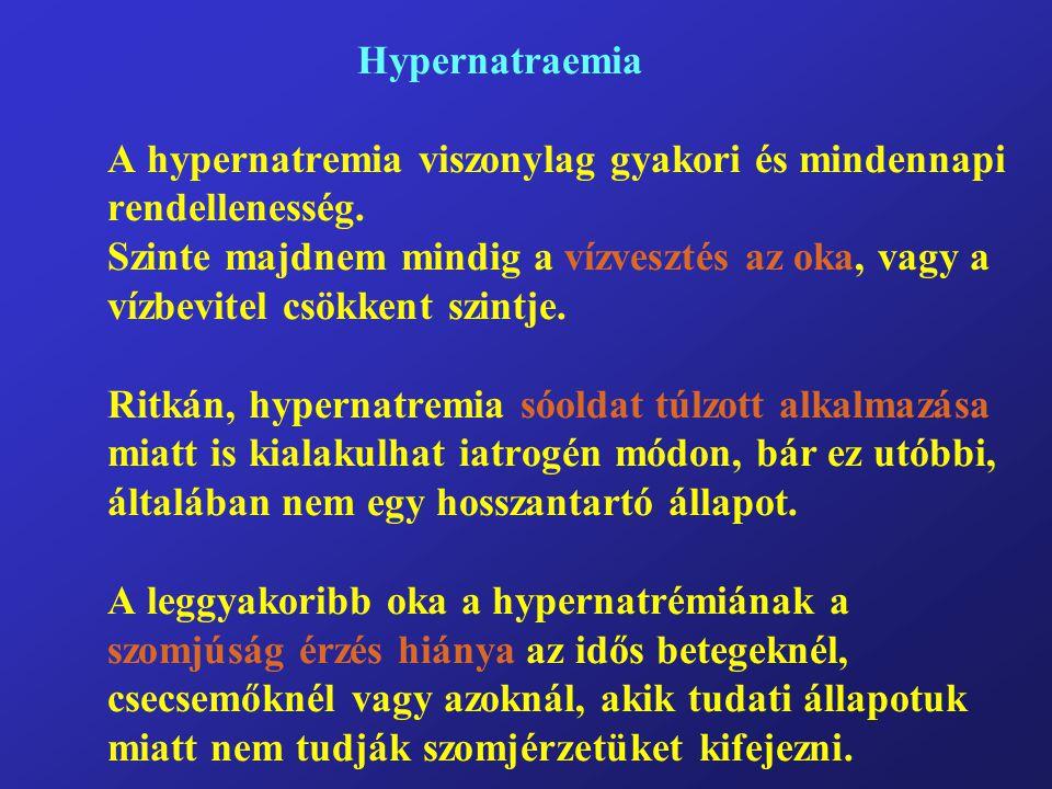 Hypernatraemia A hypernatremia viszonylag gyakori és mindennapi rendellenesség.