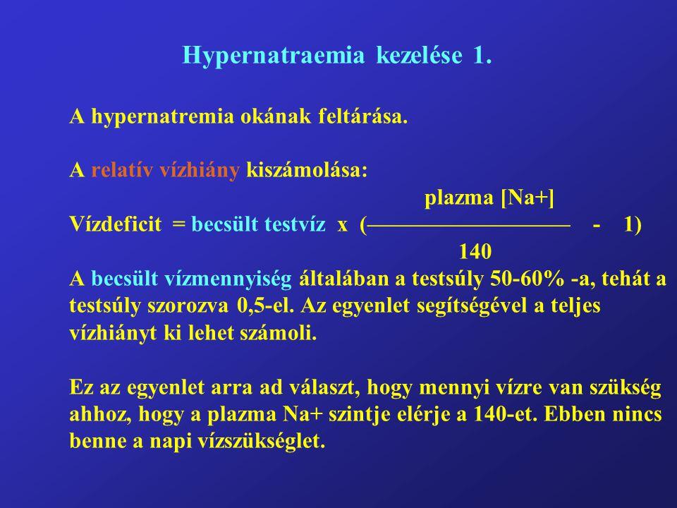 Hypernatraemia kezelése 1. A hypernatremia okának feltárása