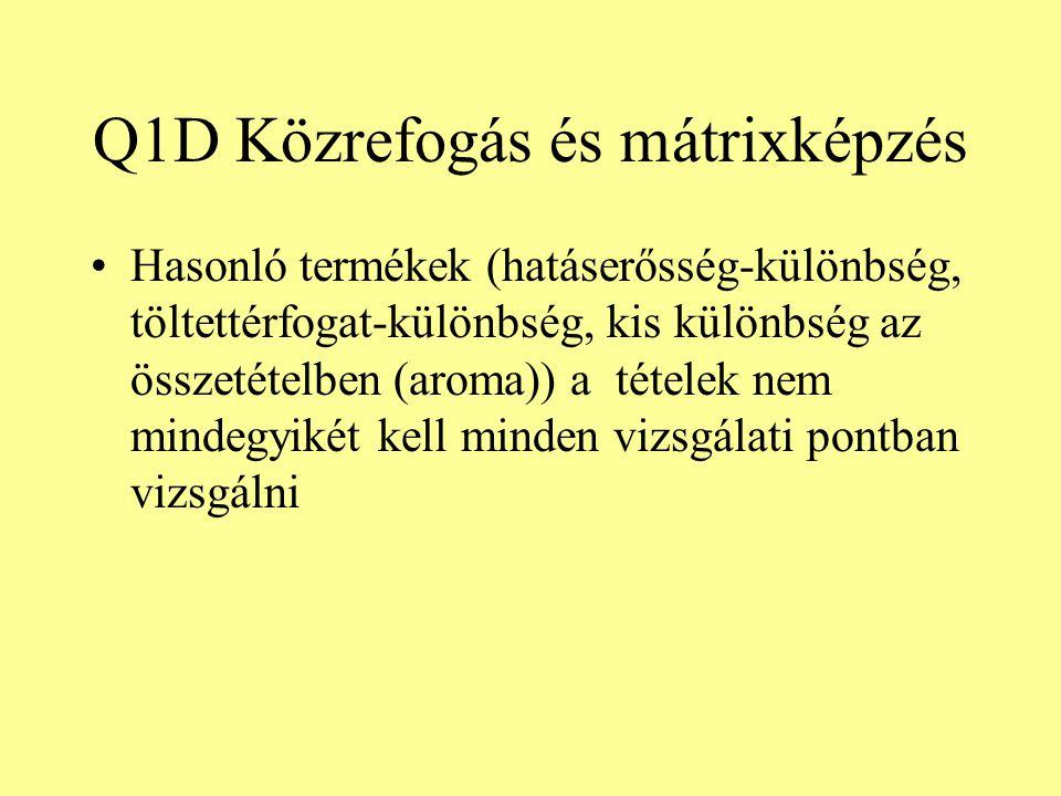 Q1D Közrefogás és mátrixképzés