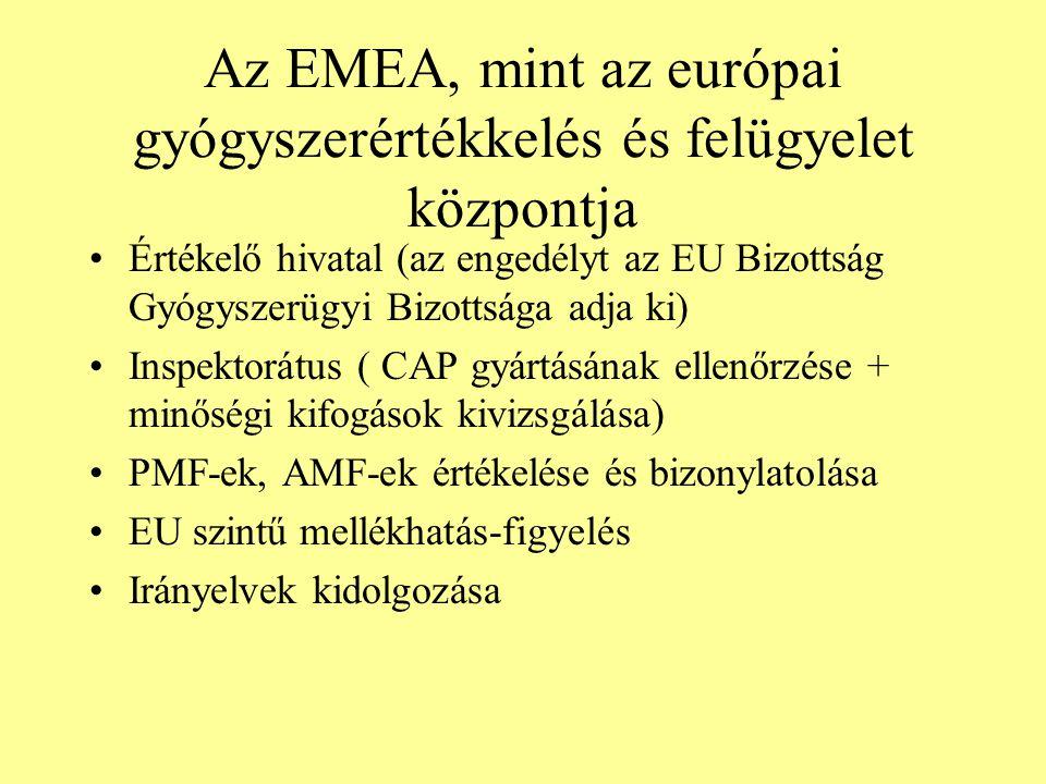 Az EMEA, mint az európai gyógyszerértékkelés és felügyelet központja
