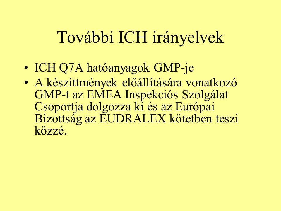 További ICH irányelvek