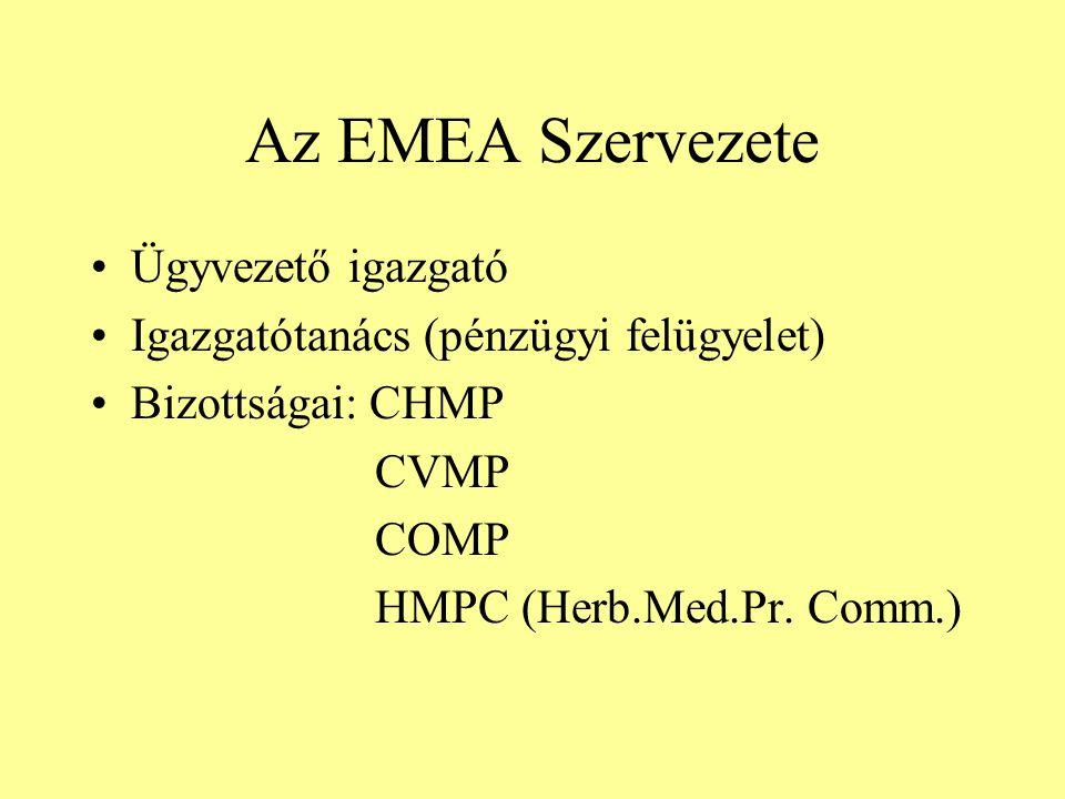 Az EMEA Szervezete Ügyvezető igazgató