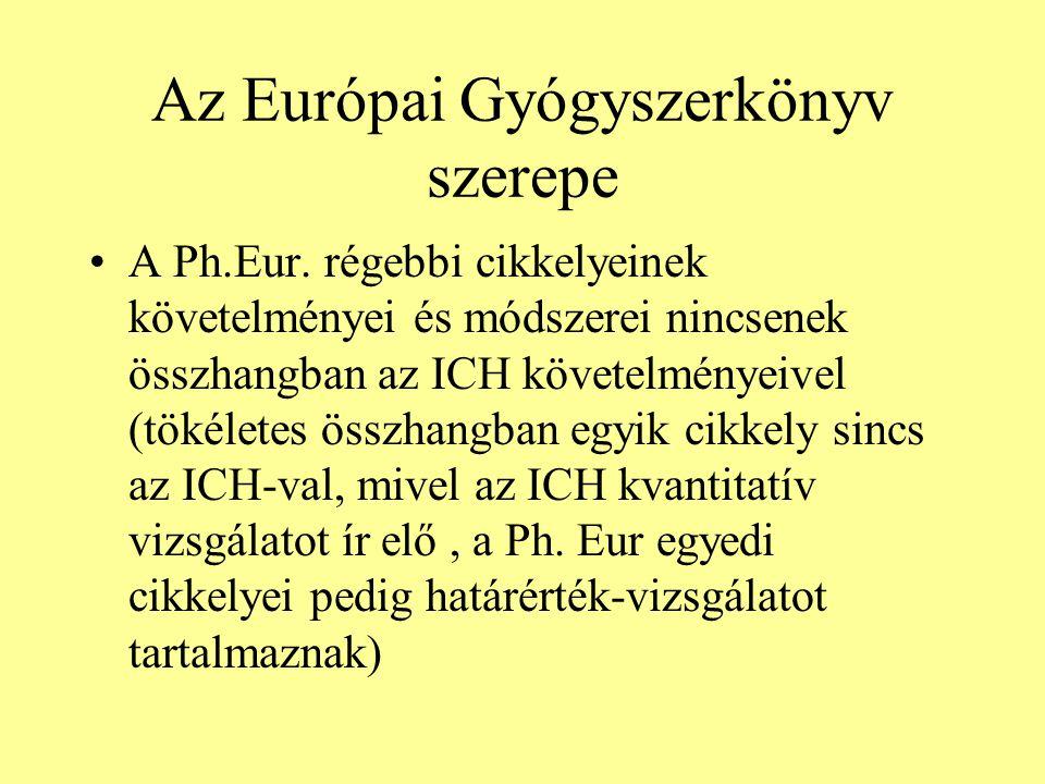 Az Európai Gyógyszerkönyv szerepe