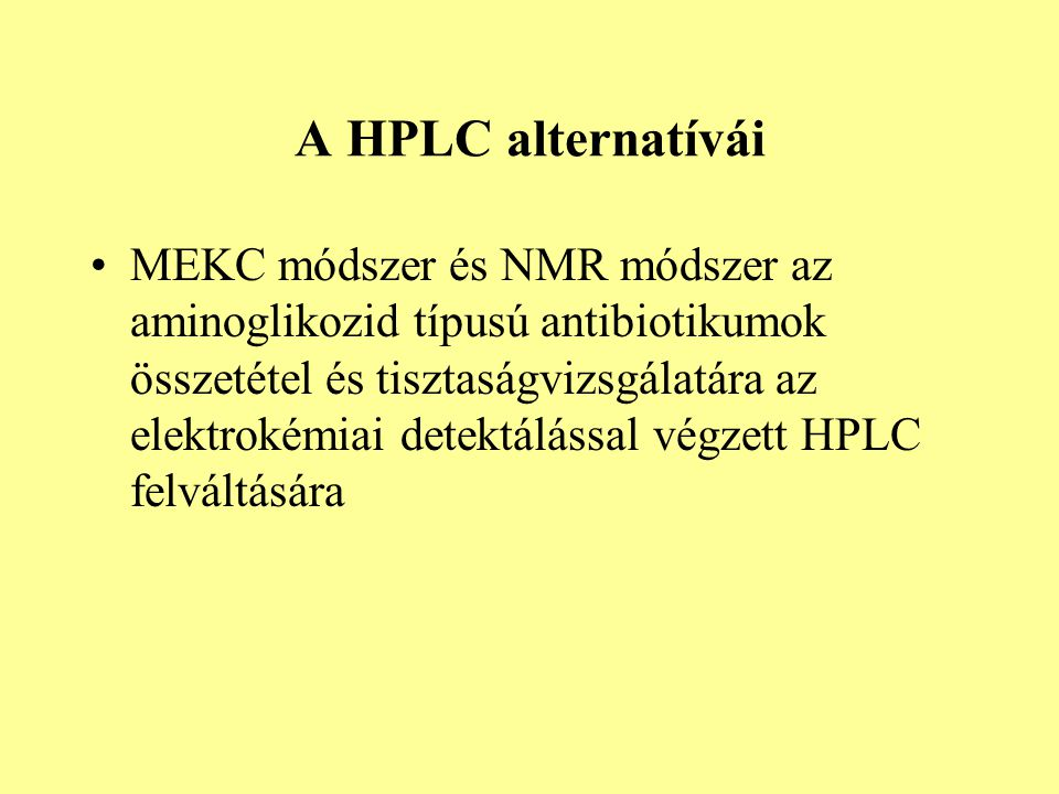 A HPLC alternatívái